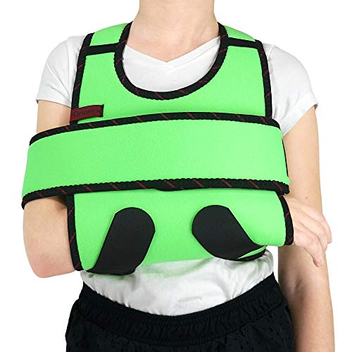 ORTONYX Kids Arm Sling Shoulder Immobilizer Brace - Fully Adjustable Rotator Cuff Arm Soulder and Elbow Support / ACJB2409