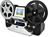 8mm & Super 8 Reels to Digital MovieMaker Film Sanner Converter, Pro Film Digitizer Machine with 2.4' LCD, Black (Convert 3 inch and 5 inch 8mm Super 8 Film reels into Digital) with 32 GB SD Card