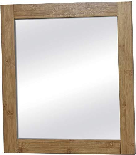 Miroir Mural pour Salle de Bain - Très Bonne qualité - Style Exotique - en Bambou