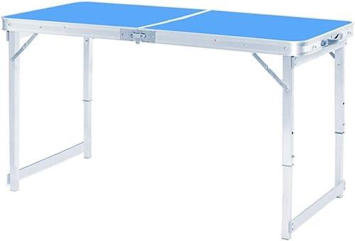 NJLC Tables De Jardin, DéCrochage ExtéRieure Table Pliante Maison Simple Table Pliantes,bleu