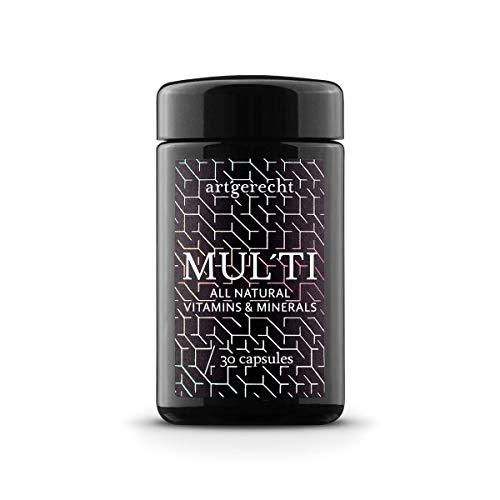 art´gerecht MULTI - 30 Kapseln   100% natürliches Multivitamin für die optimale Versorgung mit allen wichtigen Vitaminen, Mineralien und Spurenelementen