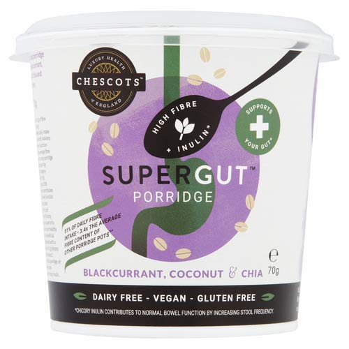 Chescots SuperGut Blackcurrant, Coconut & Chia Porridge Pot, 70g