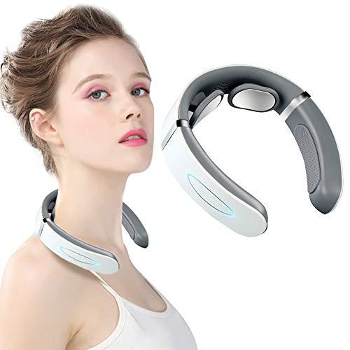 Nackenmassagegerät,Elektrisches Nackenmassagegerät,Intelligentes Nackenmassagegerät,Elektrisches Nackenmassagegerät mit 6 Arbeitsmodi, drahtloses Reise-Intelligentes Nackenmassagegerät