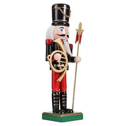 PRETYZOOM Figurines de Soldat Casse-Noisette en Bois Décoration D'ornement de Noël Soldat Écossais (Noir)