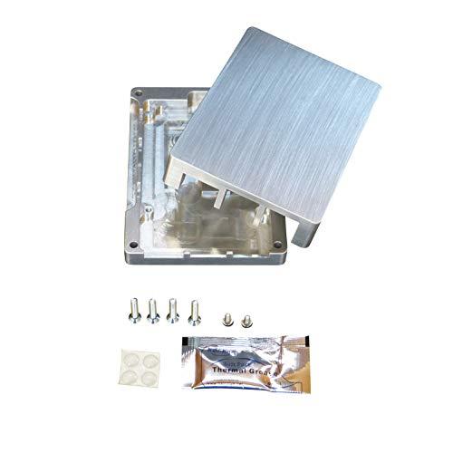 Raspberry Pi 3b+ Alloggiamento in alluminio per Kensington Lock SD chiuso, Digital Signage, CPU integrata, raffreddamento passivo, non ventola, radiatore passivo in metallo, alloggiamento in alluminio