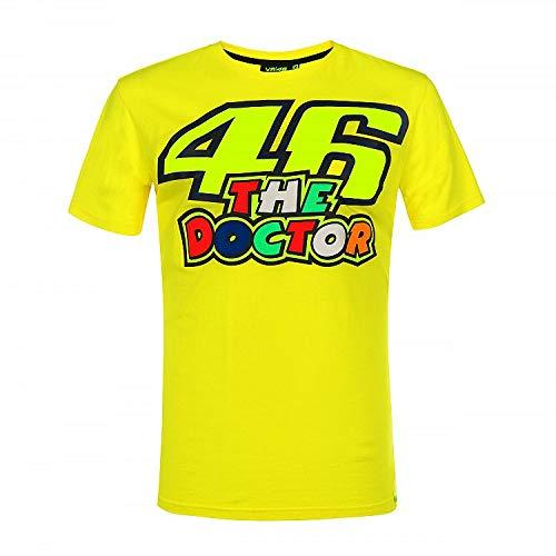 Valentino Rossi Vr46 Classic-46 The Doctor, T-Shirt Uomo, Giallo, XL