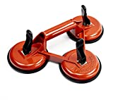 Triple Suction Cup Lifter – 3 Heavy Duty Suction Cups with Attached Suction Cup Handle – Suction Cup Glass Lifter