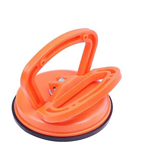 Glassauger Saugheber Glasheber, Komfortable Einhandbedienung Saugnapf mit zum Heben, Vakuumheber/Glasheber/Gummisauger Heben von Glas/Fliesen/Spiegel/Granit, (Einzel-Orange1 Pack)
