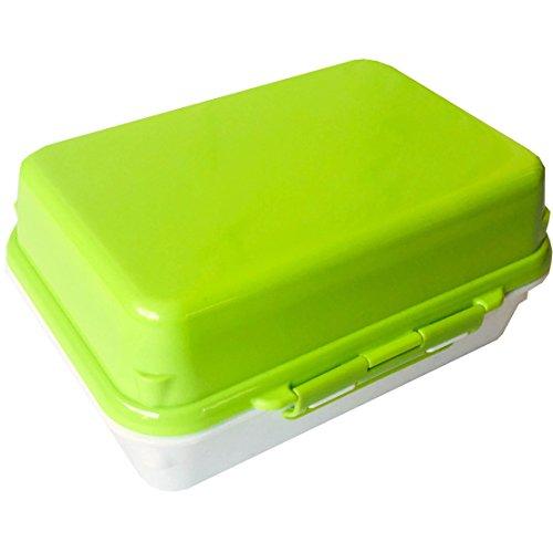 三好製作所 保冷剤一体型 ランチボックス GEL-COOL deli ミルクホワイト×アスパラガスグリーン 0101-0152