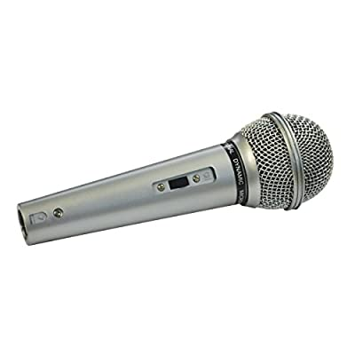 Mr Entertainer Switched Plastic Bodied Vocal Microphone with 3 Meter XLR to 6.35mm Jack Lead