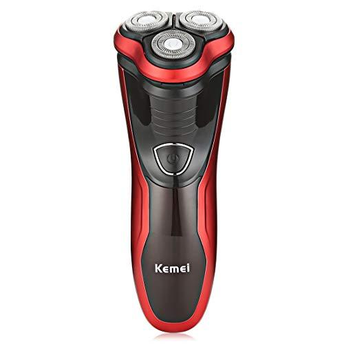 KLI Rotary Akku-Rasierapparat für Herren 3D-Elektrorasierer Präzisions-Bart-Koteletten-Rasierapparat IPX7 Wasserdichtes, abwaschbares Rasiermesser