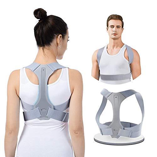 Haltungskorrektur HOPAI Geradehalter zur Haltungskorrektur Rückentrainer Schulter Rückenstütze, Schultergurt gegen Nacken -und Schulterschmerzen für gerader Rücken für Damen Herren (M: 29-33 in)