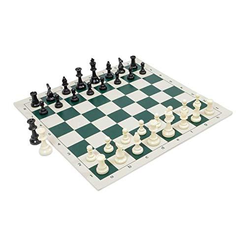 metagio 42x42cm Juego de ajedrez Tablero de ajedrez de PVC y piezas de ajedrez Ajedrez de bolsillo portátil de tamaño súper grande para niños Adultos Oficina en casa Escuela Camping