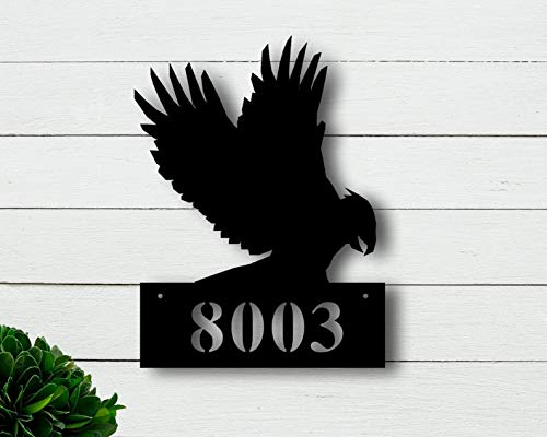 Ced454sy Señal de dirección personalizada, placa de metal, placa de dirección, placa de dirección de metal, placa de dirección de metal, placa de número, señal de número de casa