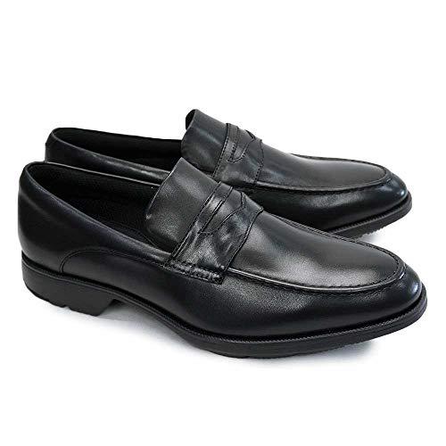 [テクシー] TEXCY メンズビジネスシューズ リュクス TU7769 TU7770 TU7775 【アシックス商事】 軽量 本革 紳士靴 texy luxe TU7775(ローファー/ブラック) 25.5cm