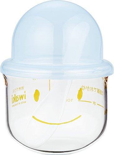 iwaki 離乳食調理器 おかゆこがま 耐熱ガラス 200ml KMC202-BL 064303