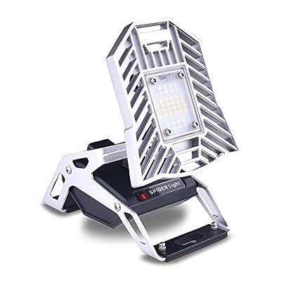 60W Deformable LED Garage Light Ceiling Light Factory Warehouse Industrial Lighting, 6000 Lumen White Light IP65 Waterproof Industrial Warehouse Mining Lamp- LED High Bay Lighting E27