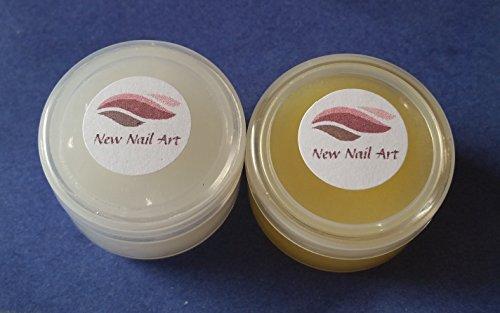 New Nail Art Lot de 2 pots de crème de soin pour cuticules pour cuticules abîmées et sèches 10 ml