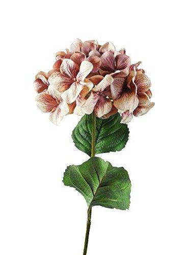 Klocke Kunstpflanzen Unechte & Realistische Blume - Blütenfarbe: Pink - Blühende Hortensie/Dekohortensie - Länge: 70cm - Große Kunstblume - Textilblume/Seidenblume für Bodenvase