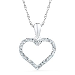 Pendants necklaces archives yourfinejewelrybox what about size ratios for a heart diamond pendant mozeypictures Choice Image