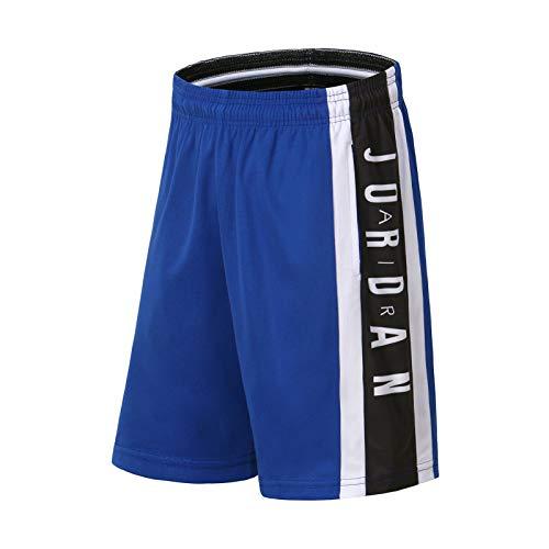 Pantalones cortos jordanos para hombre, de baloncesto Active Athletic Performance, pantalones cortos con bolsillos, ropa de moda para aficionados al deporte, azul - XL