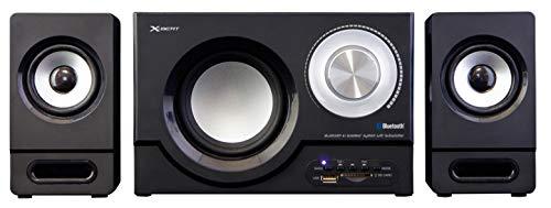 X-BEAT(エックス・ビート)【国内メーカー が販売】2.1chアンプ内蔵Bluetoothスピーカー ステレオ超高音質 SUBWOOFER 重低音 Bluetoothワイヤレス接続機能 3.5mm外部入力端子対応 パソコン・テレビ・ゲームに対応 FMラジオ(FMワイド放送対応 )