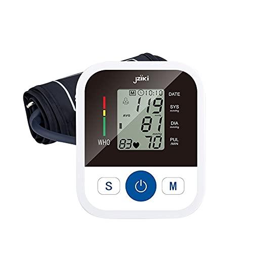 Blutdruckmessgerät für den Heimgebrauch Oberarm, automatisches digitales Blutdruckmessgerät mit LCD-Display und 2x99 Speicher