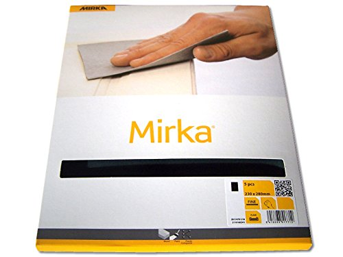 Mirka Schleifpapier Wasserschleifpapier Latex 5 Stück P 1200 Nassschleifpapier
