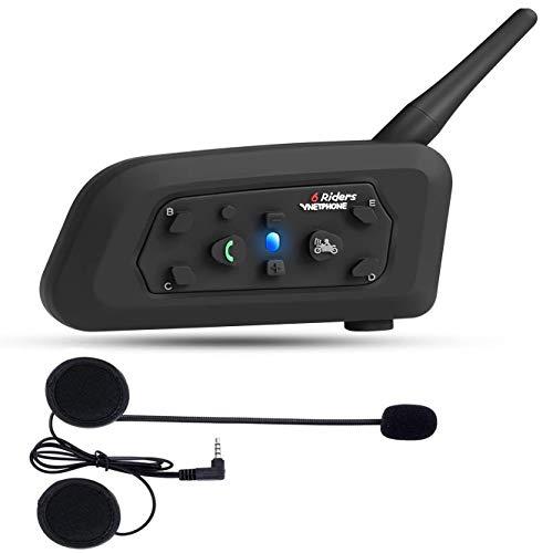 OKEU V6 1200M Motorrad Helm intercom Bluetooth Headset wasserdicht Winddicht for GPS / MP3 / Cycling/Skiing/Mountaineering/Concert/Gymnasium