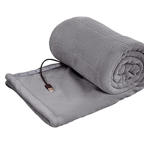 xianghaoshun Manta con calefacción eléctrica Manta con calefacción USB, Manta de Camping con calefacción Suave súper acogedora, Avión Coche Oficina en casa Uso de Camping 80 * 140cm / 31.50 * 55.12in