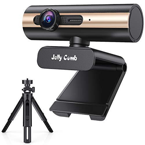 Webcam 1080P Full HD, Jelly Comb Computer Camera USB Web Camera with Built-in Microphone for Skype,...