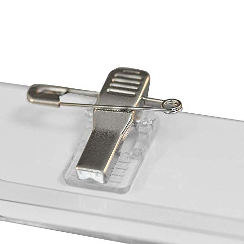 Badge Houders Stevige PVC Pin en Clip 57 x 90mm Pin only/Pack of 50