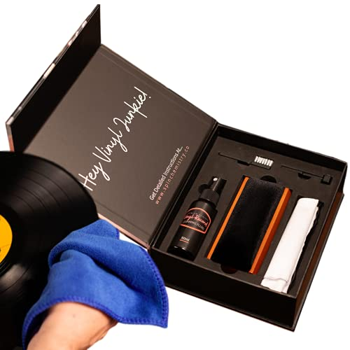 Vinyl Record Cleaning Kit   Complete Vinyl Record Cleaner System with Stylus Cleaning Brush for Turntable Needle