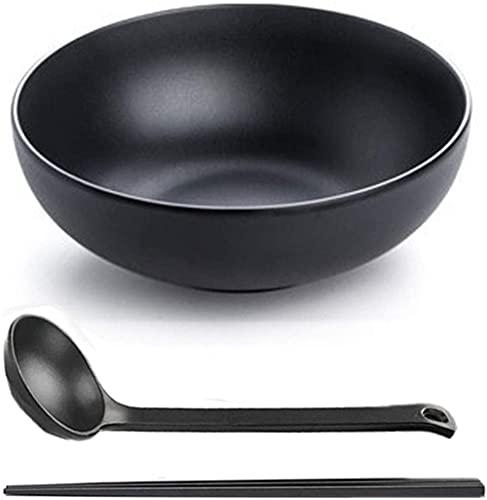 Conjunto de 6 tazones de fideos, ramen tazón de sopa de sopa Japón Gruau Melamine Tallarines, Arroz, Cereales