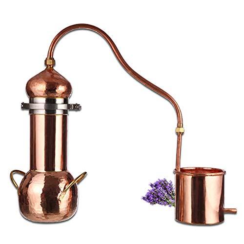 YZXZM 3 Litri di Rame Distiller Fiore Rugiada Pura Macchina Fatti A Mano di Rame Distillazione Pot Domestica di Piccola Dimensione Antica Olio Essenziale di Distillazione Apparecchiatura