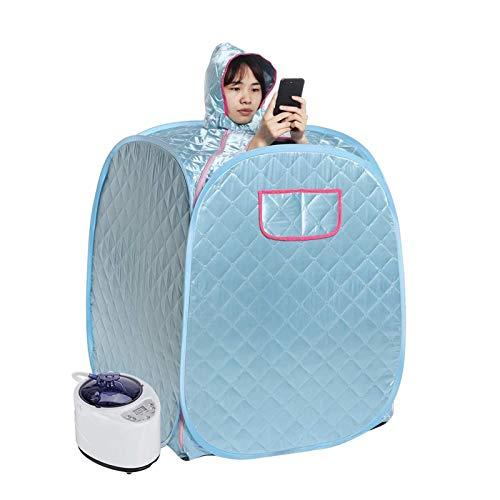 GFSD 2L Tragbare Faltende Persönliche Dampf Sauna Spa for Volle Körper Abnehmen Verlustgewicht Fernbedienung Dampftopf Home Indoor Body Slimming Sauna Maschine (Color : Blue)
