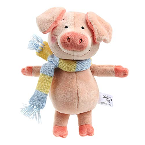 """Nuri Toys Wibbly Pig with Scarf Pig Soft Stuffed Animals Plush Toys for Kids Pink Small 8""""  Dangling"""