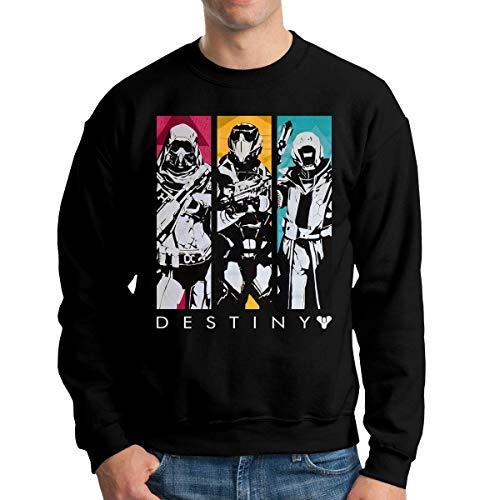 maichengxuan Destiny 2 Herren Rundhals Hoodie Herbst Winter Sweatshirt Gr. L, Schwarz