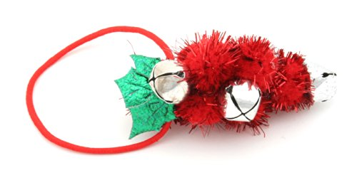 Christmas Holly Berry Pony Tail Hair Band with Bells by Zest by Zest