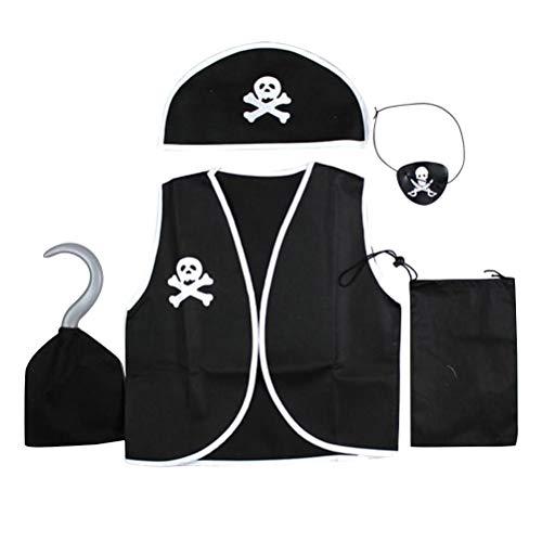 Toyvian Disfraces de Pirata,Traje de bucanero Pirata Cosplay para niño niños