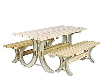 2x4basics 90182ONLMI Custom Picnic Table Kit Sand