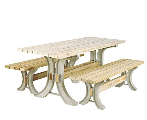 2x4basics 90182ONLMI Hopkins Picnic Table Kit, Sand (Frames Only)