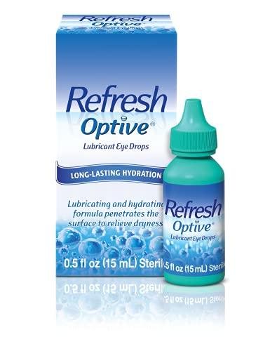 Refresh Optive Lubricant Eye Drops, 0.5 fl oz (15mL) Sterile