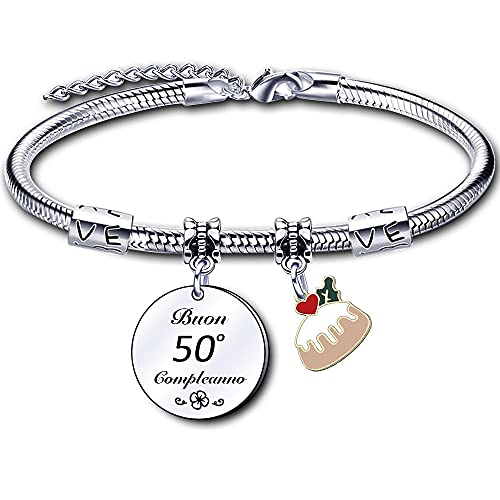 Pulsera de moda para mamá, mujer, hermana, abuela, tía, mejor amigo como regalo de cumpleaños. L 50