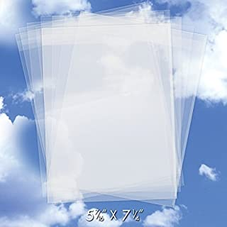 200 Crystal Clear Plastic Cello Bags (5.43 x 7.25 Inch) - Resealable Cellophane Sleeve w/Self Adhesive Flap Protects Greeting Cards, Photos, Candy, USPS Mailer (1.6 Mil Thick) CELLO5-7/16X7-1/4CL200