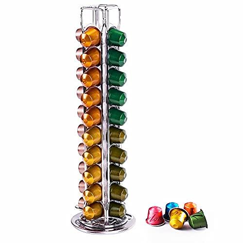 Wdmiya Soporte para cápsulas de café para Nespresso 40 piezas, dispensador capsulas nespresso, Organizador de Almacenamiento de cápsulas de café, Gran Capacidad