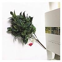 造花 インテリ 7フォークの水草ユーカリプラスチック人工植物緑の芝生のプラスチック花植物の結婚式の家の装飾テーブルデコー フラワーアレンジメント・観葉植物 (Color : 25)