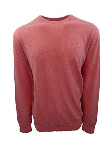 Polo Ralph Lauren Men's Big & Tall Crew Neck Cashmere Blend Pullover Sweater (2XLT, Pink Heather)