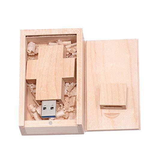 PenDrive Chiavetta Flash Drive USB Key Portatile Memory Stick Thumb Regalo Croce USB in legno + scatola usb drive 16 gb 32 gb croce presente 2c