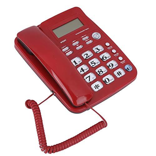 Weikeya Reparado Las Manos‑Libre Teléfono, Clave Llamador Identificación Teléfono Poder Fuentes Abdominales Teléfono Línea por Casa Oficina Hotel teléfono